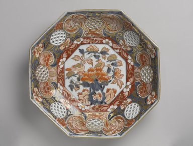<em>Dish</em>, 17th-18th century. Porcelain, Ko-Imari ware, 2 1/4 x 11 1/4 in. (5.7 x 28.6 cm). Brooklyn Museum, Purchased with funds given by Mr. and Mrs. Harry Kahn, 74.55.4. Creative Commons-BY (Photo: Brooklyn Museum, 74.55.4_PS9.jpg)