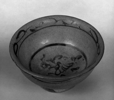 <em>Cup</em>, 15th century. Stoneware, Diam: 3 5/8 in. (9.2 cm). Brooklyn Museum, By exchange, 74.59.6. Creative Commons-BY (Photo: Brooklyn Museum, 74.59.6_bw.jpg)