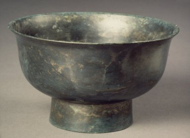 <em>Bowl</em>, 15th-16th century. Bronze, Height: 3 1/16 in. (7.7 cm). Brooklyn Museum, Gift of Nathan Hammer, 74.61.3. Creative Commons-BY (Photo: Brooklyn Museum, 74.61.3.jpg)