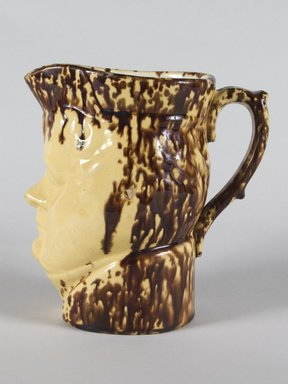 Ralph B. Beach. <em>Pitcher</em>, ca. 1848-1890. Earthenware, 7 3/16 in. (18.3 cm). Brooklyn Museum, H. Randolph Lever Fund, 75.112.2. Creative Commons-BY (Photo: Brooklyn Museum, 75.112.2_PS5.jpg)