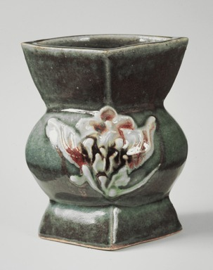 Kawai Kanjiro (Japanese, 1890-1966). <em>Vase</em>, ca. 1955. Stoneware, 7 1/4 x 6 3/8 in. (18.4 x 16.2 cm). Brooklyn Museum, Gift of Dr. Herbert Meadow, 75.120.2. Creative Commons-BY (Photo: Brooklyn Museum, 75.120.2.jpg)