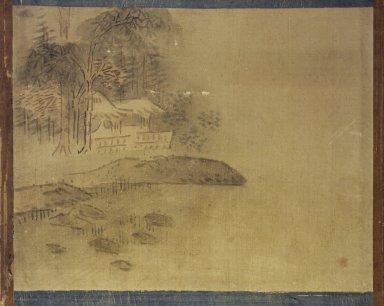 <em>Landscape</em>, 19th century. Ink and light color on silk, 11 3/8 x 14 3/8 in.  (28.9 x 36.5 cm). Brooklyn Museum, Designated Purchase Fund, 75.125.10 (Photo: Brooklyn Museum, 75.125.10.jpg)