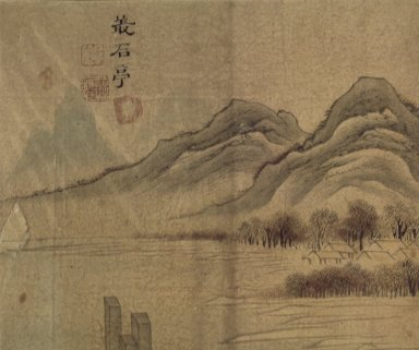 <em>Chongseok-jeong (Chongseok Pavilion)</em>, 19th century. Ink and light color on paper, 9 1/4 x 11 15/16 in.  (23.5 x 30.3 cm). Brooklyn Museum, Designated Purchase Fund, 75.125.6 (Photo: Brooklyn Museum, 75.125.6.jpg)