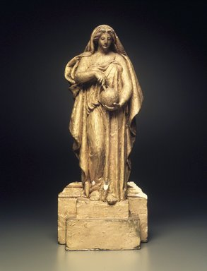 Kenyon Cox (American, 1856-1919). <em>Study for Greek Science</em>, 1907. Gilded plaster, 11 1/2 x 5 x 2 1/2 in. (29.2 x 12.7 x 6.4 cm). Brooklyn Museum, Gift of Allyn Cox, 75.132. Creative Commons-BY (Photo: Brooklyn Museum, 75.132.jpg)