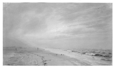 William Trost Richards (American, 1833-1905). <em>The Opal Sky</em>. Watercolor on paper Brooklyn Museum, Gift of Edith Ballinger Price, 75.135 (Photo: Brooklyn Museum, 75.135_bw.jpg)
