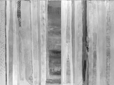 Robert Natkin (American, 1930-2010). <em>Apollo (April 1975)</em>, 1975. Acrylic on canvas, 52 1/16 × 69 1/16 in. (132.2 × 175.4 cm). Brooklyn Museum, Anonymous gift, 75.136. © artist or artist's estate (Photo: Brooklyn Museum, 75.136_bw.jpg)