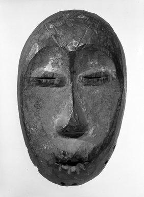 Lega. <em>Maskette (Lukwakongo)</em>, late 19th or early 20th century. Wood, 7 7/8 x 4 7/8 x 2 1/8 in. (20.0 x 12.4 x 5 .5 cm). Brooklyn Museum, Gift of Dr. Ernst Anspach, 75.147.3. Creative Commons-BY (Photo: Brooklyn Museum, 75.147.3_bw.jpg)