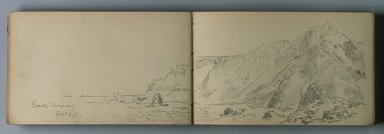 William Trost Richards (American, 1833-1905). <em>Sketchbook, Tonal Sketches of Landscape, Coastal and Marine Subjects in Different Weather Conditions</em>, ca. 1890. Graphite on paper, 5 x 7 7/16 in. (12.7 x 18.9 cm). Brooklyn Museum, Gift of Edith Ballinger Price, 75.15.12 (Photo: Brooklyn Museum, 75.15.12.jpg)