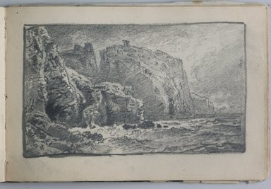 William Trost Richards (American, 1833-1905). <em>Sketchbook, English and French Landscape and Coastal Subjects</em>, 1880. Graphite on paper, 3 15/16 x 6 7/8 in. (10 x 17.5 cm). Brooklyn Museum, Gift of Edith Ballinger Price, 75.15.15 (Photo: Brooklyn Museum, 75.15.15.jpg)
