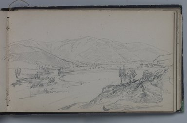William Trost Richards (American, 1833-1905). <em>Sketchbook of American and Italian Subjects</em>, 1855-1856. Sketchbook containing drawings in graphite on wove paper, 4 1/16 x 6 5/8 x 3/8 in. (10.3 x 16.8 x 1 cm). Brooklyn Museum, Gift of Edith Ballinger Price, 75.15.2 (Photo: Brooklyn Museum, 75.15.2.jpg)