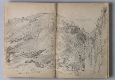 William Trost Richards (American, 1833-1905). <em>Sketchbook of English Landscape and Coastal Scenery</em>, 1878. Pencil on paper, 5 1/8 x 7 7/16 in. (13 x 18.9 cm). Brooklyn Museum, Gift of Edith Ballinger Price, 75.15.3 (Photo: Brooklyn Museum, 75.15.3.jpg)