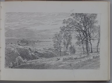 William Trost Richards (American, 1833-1905). <em>Sketchbook, Marines and Landscapes</em>, ca. 1890. Pencil or ink on paper, 5 x 6 15/16 in. (12.7 x 17.6 cm). Brooklyn Museum, Gift of Edith Ballinger Price, 75.15.4 (Photo: Brooklyn Museum, 75.15.4.jpg)