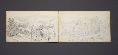 William Trost Richards (American, 1833-1905). <em>Sketchbook, Adirondack Subjects</em>, 1863. Graphite on paper, 4 3/4 x 8 in. Brooklyn Museum, Gift of Edith Ballinger Price, 75.15.5 (Photo: Brooklyn Museum, 75.15.5_transpc001.jpg)