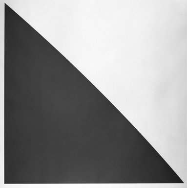 Ellsworth Kelly (American, 1923-2015). <em>Green Curve with Radius of 20 Feet</em>, 1974. Lithograph with embossed plate, Sheet: 36 3/4 x 35 7/8 in. (93.3 x 91.1 cm). Brooklyn Museum, Designated Purchase Fund, 75.16.4. © artist or artist's estate (Photo: Brooklyn Museum, 75.16.4_bw.jpg)