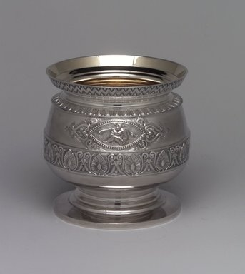 J. E. Caldwell & Co. (founded 1839). <em>Slop Bowl</em>, ca. 1875. Silver, 5 1/16 x 4 15/16 x 4 15/16 in. (12.9 x 12.5 x 12.5 cm). Brooklyn Museum, H. Randolph Lever Fund, 75.164.4. Creative Commons-BY (Photo: Brooklyn Museum, 75.164.4_left.jpg)