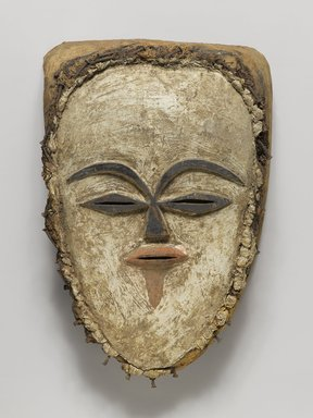 Tsogho. <em>Face Mask</em>, late 19th-early 20th century. Raffia, iron, 12 x 7 3/4 x 4 in. (30.5 x 19.7 x 10.2 cm). Brooklyn Museum, Gift of Mr. and Mrs. J. Gordon Douglas III, 75.189.10. Creative Commons-BY (Photo: Brooklyn Museum, 75.189.10_PS4.jpg)