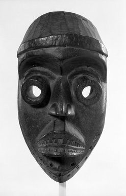 Dan. <em>Bugle Mask</em>, late 19th-early 20th century. Wood, 11 3/4 x 6 1/4 x 4 1/2 in. (29.8 x 15.9 x 11.4 cm). Brooklyn Museum, Gift of Mr. and Mrs. J. Gordon Douglas III, 75.189.3. Creative Commons-BY (Photo: Brooklyn Museum, 75.189.3_bw.jpg)