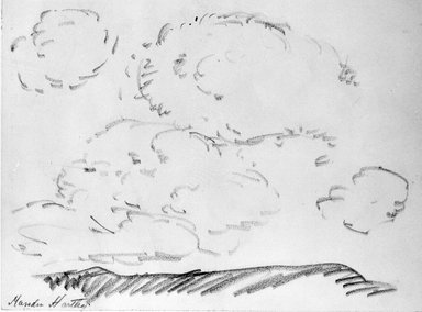 Marsden Hartley (American, 1877-1943). <em>Landscape</em>, n.d. Graphite on paper, Sheet: 9 x 12 1/16 in. (22.9 x 30.6 cm). Brooklyn Museum, Gift of Mr. and Mrs. H. Lawrence Herring, 75.211.1. © artist or artist's estate (Photo: Brooklyn Museum, 75.211.1_bw.jpg)