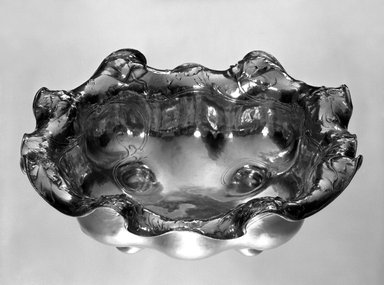 Gorham Manufacturing Company (1865-1961). <em>Bowl (Martelé Line)</em>, ca. 1905. Silver, 3 11/16 x 11 1/2 x 11 1/2 in. (9.4 x 29.2 x 29.2 cm). Brooklyn Museum, Gift of Mr. and Mrs. Philip C. Schwartz, 75.23. Creative Commons-BY (Photo: Brooklyn Museum, 75.23_bw.jpg)