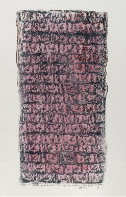 Yitzhak Greenfield (American, born 1942). <em>The Kings Sacrifice</em>, 1974. Cylinder seal relief print Brooklyn Museum, Gift of Mitch Sewall, 75.41. © artist or artist's estate (Photo: Brooklyn Museum, 75.41_PS4.jpg)