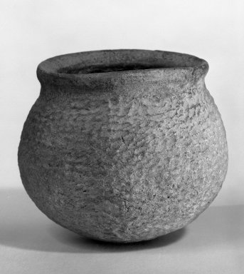 <em>Vessel</em>, 4th millennium B.C.E. Ban Chieng ware, 3 1/4 in. (8.3 cm). Brooklyn Museum, Designated Purchase Fund, 75.65.9. Creative Commons-BY (Photo: Brooklyn Museum, 75.65.9_bw.jpg)