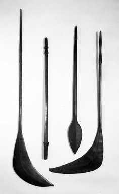 Fijian. <em>Club</em>. Wood, L: 50 1/2 in. (128.3 cm). Brooklyn Museum, Purchased with funds given by The Evelyn A. Jaffe Hall Charitable Trust, 76.1.8. Creative Commons-BY (Photo: , 76.1.1_76.1.2_76.1.8_76.1.11_bw.jpg)