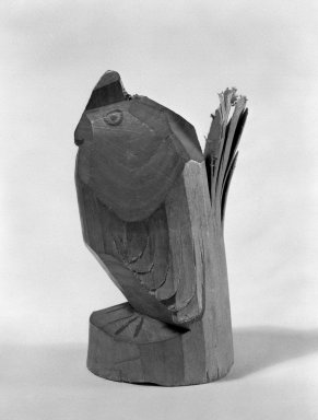 <em>Folk Toy</em>, ca. 1870. Carved wood, 2 3/4 x 1 in. (7 x 2.5 cm). Brooklyn Museum, Gift of Theodore S. Heineken, 76.112. Creative Commons-BY (Photo: Brooklyn Museum, 76.112_bw.jpg)
