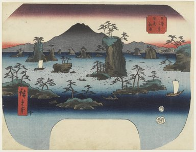 Utagawa Hiroshige (Ando) (Japanese, 1797-1858). <em>Matsushima in Oshu Province</em>, ca. 1855 (design); impression later. Color woodblock print on paper, Width: 11 5/8 in. (29.5 cm). Brooklyn Museum, Anonymous gift, 76.151.10 (Photo: Brooklyn Museum, 76.151.10_PS4.jpg)