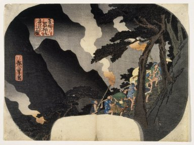 Utagawa Hiroshige (Ando) (Japanese, 1797-1858). <em>Shokoku Meisho Series</em>, 19th century. Color woodblock print on paper, Width: 11 3/4 in. (29.8 cm). Brooklyn Museum, Anonymous gift, 76.151.12 (Photo: Brooklyn Museum, 76.151.12_print_IMLS_SL2.jpg)