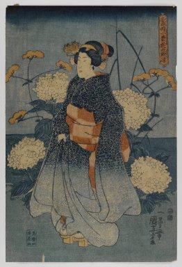 Utagawa Kuniyoshi (Japanese, 1798-1861). <em>Woodblock Print</em>, ca. 1840s. Woodblock print, 14 1/2 x 9 5/8 in. (36.8 x 24.4 cm). Brooklyn Museum, Anonymous gift, 76.151.18 (Photo: Brooklyn Museum, 76.151.18_IMLS_PS4.jpg)