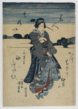 Utagawa Kuniyoshi (Japanese, 1798-1861). <em>Woodblock Print</em>, ca. 1830. Woodblock print, 14 5/8 x 10 5/16 in. (37.1 x 26.2 cm). Brooklyn Museum, Anonymous gift, 76.151.19 (Photo: Brooklyn Museum, 76.151.19_IMLS_PS4.jpg)