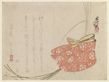 Shibata Zeshin (Japanese, 1807-1891). <em>Surimono</em>, 19th century. Color woodblock print on paper, 5 1/2 x 7 3/8 in. (14 x 18.7 cm). Brooklyn Museum, Anonymous gift, 76.151.23 (Photo: Brooklyn Museum, 76.151.23_IMLS_PS3.jpg)