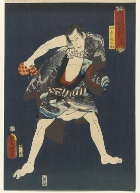 "Utagawa Kunisada (Toyokuni III) (Japanese, 1786-1865). <em>The Actor Ichikawa Kodanji IV (1812-1866) as Subashiri no Kumagoro, from the series ""Thieves in Designs of the Times,""</em> 1859, 6th month. Woodblock print, 14 1/2 x 9 7/8 in. (36.8 x 25.1 cm). Brooklyn Museum, Anonymous gift, 76.151.26 (Photo: Brooklyn Museum, 76.151.26_PS1.jpg)"