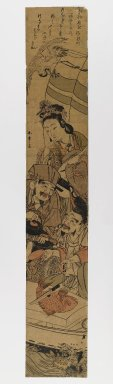 Katsukawa Shunsho (Japanese, 1726-1793). <em>Takarabune</em>, ca. 1780-1790. Woodblock print, 27 3/8 x 4 5/8 in. (69.5 x 11.7 cm). Brooklyn Museum, Anonymous gift, 76.151.43 (Photo: Brooklyn Museum, 76.151.43_IMLS_PS4.jpg)