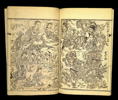 Kawanabe Kyosai (Japanese, 1831-1889). <em>Kyosai Kadan Nihen (Pictorial Accounts of Kyosai), Part I, Volume 2</em>, 1887. Ink and light colors on paper, 10 1/16 x 6 15/16 in.  (25.6 x 17.6 cm). Brooklyn Museum, Anonymous gift, 76.151.69.2 (Photo: Brooklyn Museum, 76.151.69.2_IMLS_SL2.jpg)