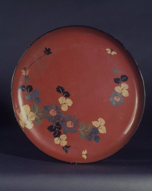 <em>Tray</em>, 18th-19th century. Lacquered wood, 1 1/4 x 14 in. (3.2 x 35.6 cm). Brooklyn Museum, Designated Purchase Fund, 76.155.2. Creative Commons-BY (Photo: Brooklyn Museum, 76.155.2.jpg)