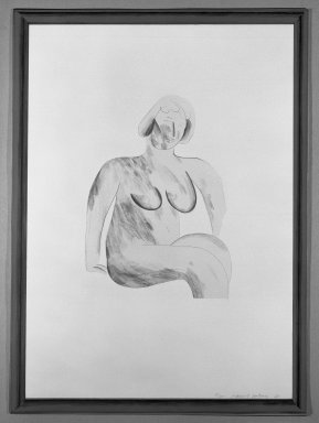 David Hockney (British, born 1937). <em>Picture of a Simple Framed Traditional Nude</em>, 1965. Lithograph in four colors on wove paper, 30 1/4 x 22 1/4 in. (76.8 x 56.5 cm). Brooklyn Museum, Gift of Wendy F. Findlay, 76.16.1. © artist or artist's estate (Photo: Brooklyn Museum, 76.16.1_bw.jpg)