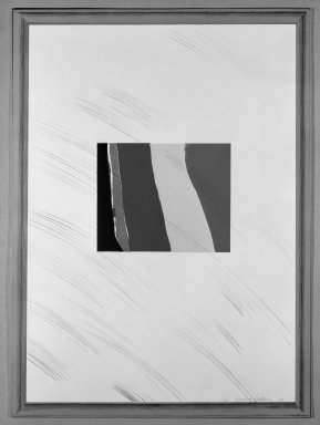 David Hockney (British, born 1937). <em>Picture of a Pointless Abstraction Framed Under Glass</em>, 1965. Lithograph in six colors on wove paper, 30 1/4 x 22 1/4 in. (76.8 x 56.5 cm). Brooklyn Museum, Gift of Wendy F. Findlay, 76.16.4. © artist or artist's estate (Photo: Brooklyn Museum, 76.16.4_bw.jpg)