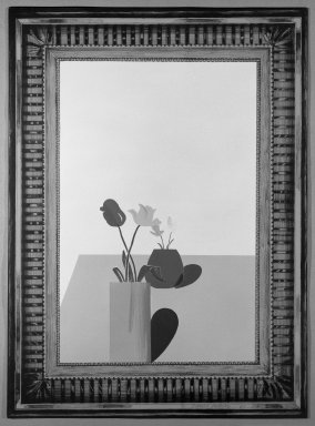 David Hockney (British, born 1937). <em>Picture of a Still Life That Has an Elaborate Silver Frame</em>, 1965. Lithograph in seven colors on wove paper, 30 1/4 x 22 1/4 in. (76.8 x 56.5 cm). Brooklyn Museum, Gift of Wendy F. Findlay, 76.16.6. © artist or artist's estate (Photo: Brooklyn Museum, 76.16.6_bw.jpg)