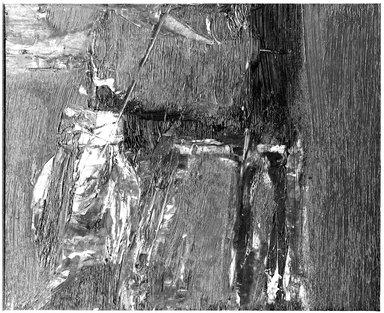 Budd Hopkins (American, 1931-2011). <em>Untitled</em>, 1960. Oil on Bristol board, 13 x 15 in. (33 x 38.1 cm). Brooklyn Museum, Gift of Paul F. Walter, 76.196.4. © artist or artist's estate (Photo: Brooklyn Museum, 76.196.4_bw.jpg)