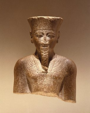 <em>Amun-Re or King Amunhotep III</em>, ca. 1403-1365 B.C.E. Quartzite, 7 11/16 x 5 5/8 x 3 15/16 in. (19.5 x 14.3 x 10 cm). Brooklyn Museum, Charles Edwin Wilbour Fund, 76.39. Creative Commons-BY (Photo: Brooklyn Museum, 76.39_SL1.jpg)