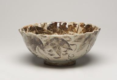 Kitaoji Rosanjin (Japanese, 1883-1959). <em>Bowl with Grape Pattern</em>, ca. 1950. Glazed stoneware, 4 x 9 1/8 in. (10.2 x 23.2 cm). Brooklyn Museum, Gift of Sidney B. Cardozo, Jr. in memory of Eva M. Cardozo, 76.42.1. Creative Commons-BY (Photo: Brooklyn Museum, 76.42.1_view01_PS11.jpg)