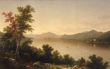 John William Casilear (American, 1811-1893). <em>Lake George</em>, 1857. Oil on canvas, 37 5/8 x 60 in. (95.5 x 152.4 cm). Brooklyn Museum, Gift of The Roebling Society and Dick S. Ramsay Fund, 76.56 (Photo: Brooklyn Museum, 76.56_reference_SL1.jpg)