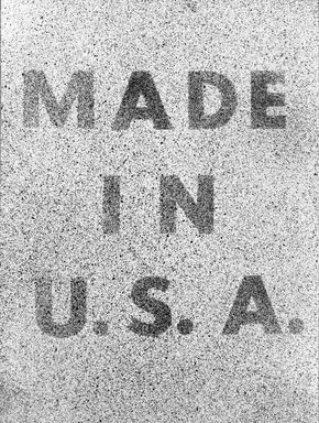 Edward Ruscha (American, born 1937). <em>America Her Best Product</em>, 1974. Lithograph on paper, 31 3/8 x 23 1/2 in.  (79.7 x 59.7 cm). Brooklyn Museum, Gift of Lorillard, 76.77.11. © artist or artist's estate (Photo: Brooklyn Museum, 76.77.11_bw.jpg)