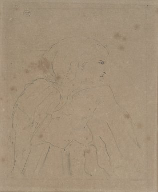 Henri de Toulouse-Lautrec (French, 1864-1901). <em>Cassive (Jeanne Hading)</em>, 1894. Lithograph on canvas, 13 x 10 5/8 in. (33 x 27 cm). Brooklyn Museum, Gift of Leon Pomerance, 76.78.4 (Photo: Brooklyn Museum, 76.78.4.jpg)