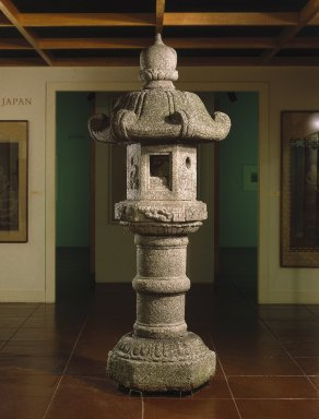 <em>Lantern (Ishi-doro)</em>, 18th century. Granite, Overall Height: 101 1/2 in. (257.8 cm). Brooklyn Museum, Gift of Josephine Vallin Rosenberg in memory of Louis Rosenberg, 77.139a-f. Creative Commons-BY (Photo: Brooklyn Museum, 77.139a-f_installation_SL1.jpg)
