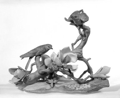 Edward Marshall Boehm, Inc. (founded 1950). <em>Figure</em>, 1963-1968. Porcelain, 11 1/2 x 6 3/4 x 12 1/2 in. (29.2 x 17.1 x 31.8 cm). Brooklyn Museum, Gift of Dr. and Mrs. Herman S. Alpert, 77.187.2. Creative Commons-BY (Photo: Brooklyn Museum, 77.187.2_bw.jpg)