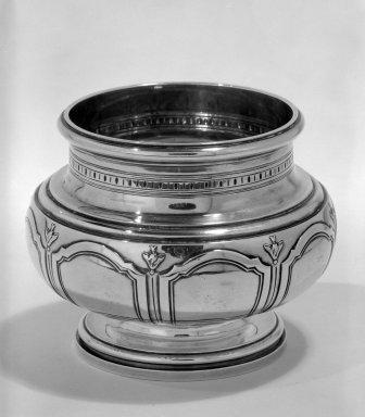 Keller Frères (1856 - 1947). <em>Waste Bowl</em>, ca. 1900. Silver, 4 1/4 x 4 x 4 in. (10.8 x 10.2 x 10.2 cm). Brooklyn Museum, Gift of Margaret Liebman Berger and Charles J. Liebman, Jr. in memory of Aline and Charles J. Liebman, 77.188.7. Creative Commons-BY (Photo: Brooklyn Museum, 77.188.7_bw.jpg)
