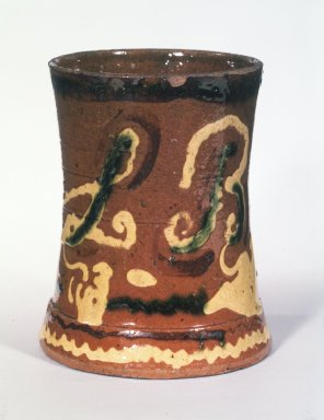 American. <em>Vase</em>, ca. 1840. Earthenware, 3 3/4 x 5 in. (9.5 x 12.7 cm). Brooklyn Museum, Purchased with funds given by Christine V. Ness, H. Randolph Lever Fund, Alfred T. and Caroline S. Zoebisch Fund, and other funds, 77.191.4. Creative Commons-BY (Photo: Brooklyn Museum, 77.191.4_transp2641.jpg)