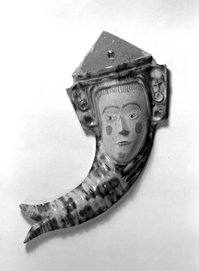American. <em>Wall Flower Holder</em>, ca. 1850. Earthenware, 9 x 3 1/2 in. (22.9 x 8.9 cm). Brooklyn Museum, Purchased with funds given by Christine V. Ness, H. Randolph Lever Fund, Alfred T. and Caroline S. Zoebisch Fund, and other funds, 77.191.7. Creative Commons-BY (Photo: Brooklyn Museum, 77.191.7_bw.jpg)